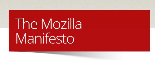 mozilla manifesto