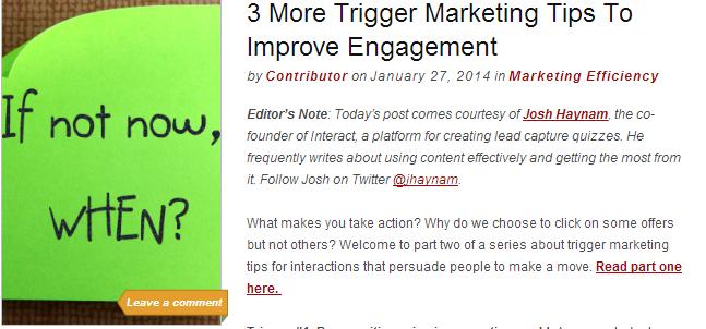 trigger marketing