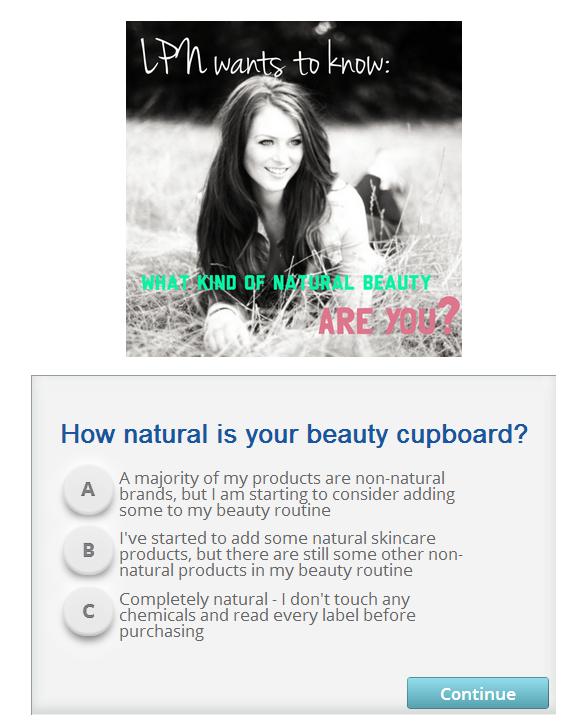 living pretty naturally quiz