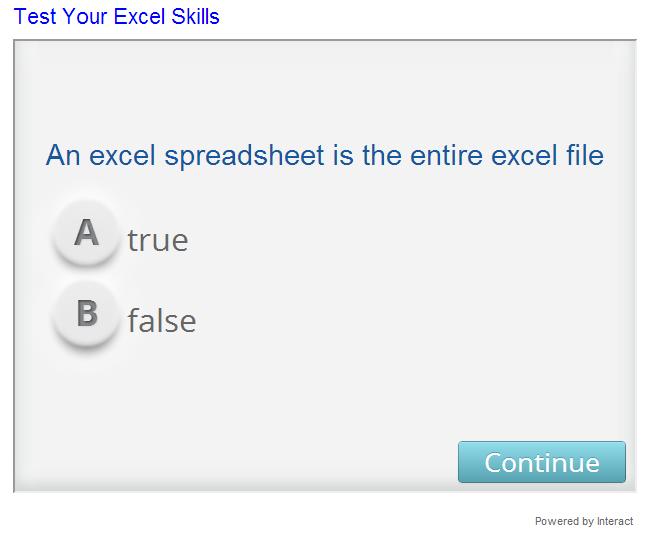 excel quiz