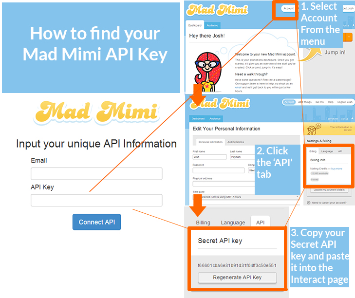 how to find your mad mimi api key