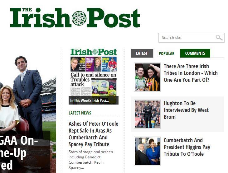 irish times popular