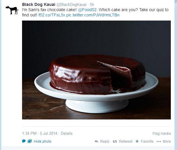 twitter cake quiz