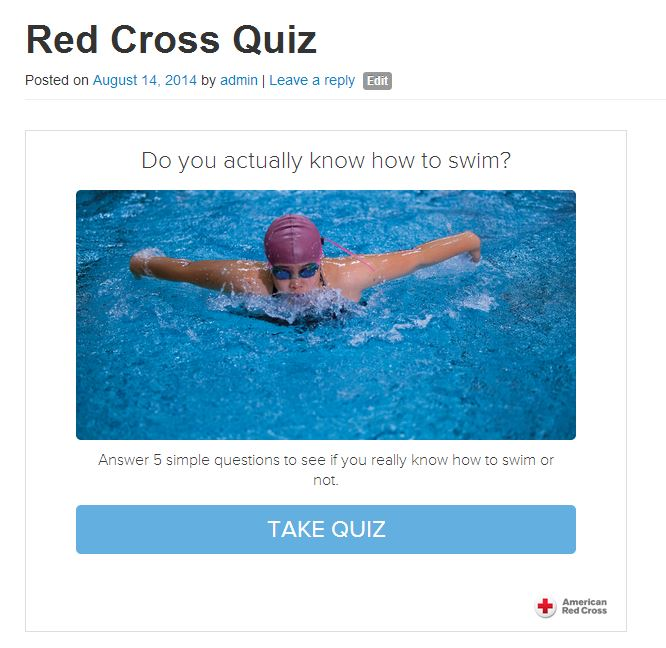 red cross swim quiz