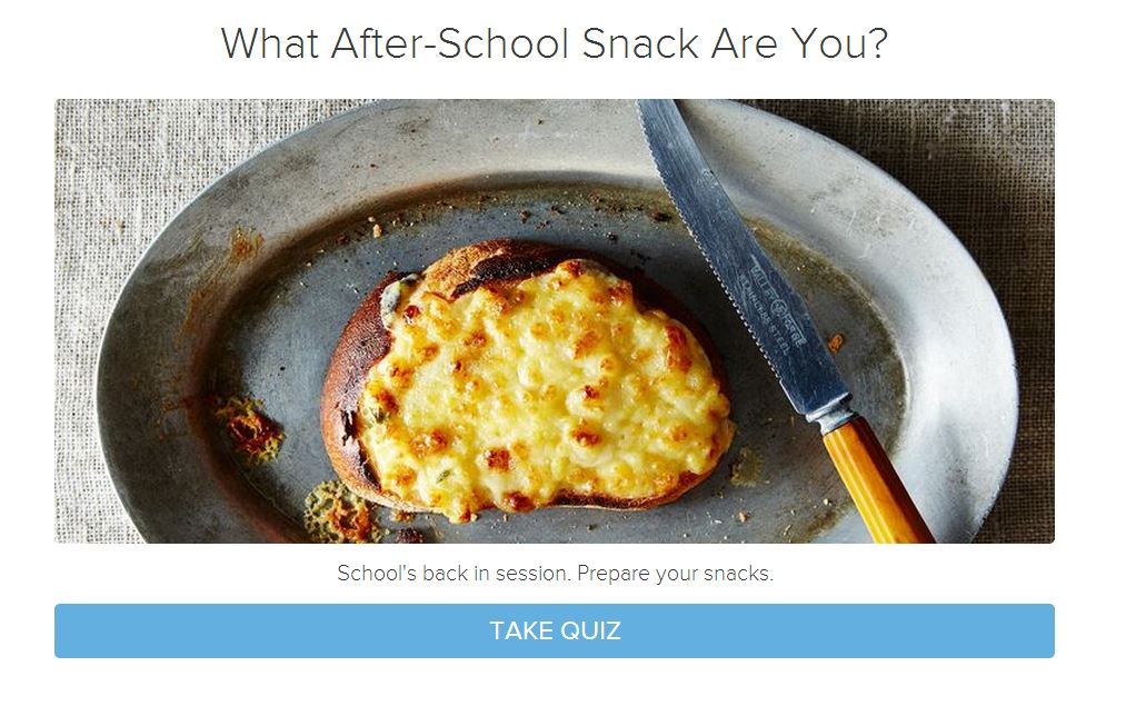How to make a quiz for your food website or blog interact use interact quiz builder cover forumfinder Image collections