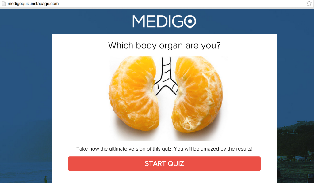medigo quiz inside instapage