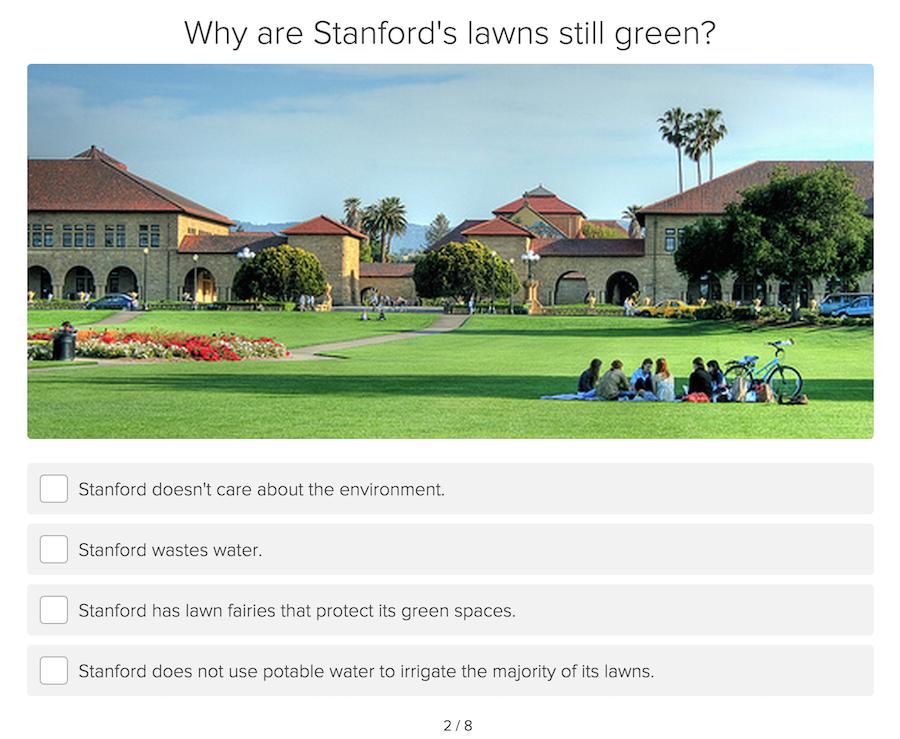 water conservation quiz