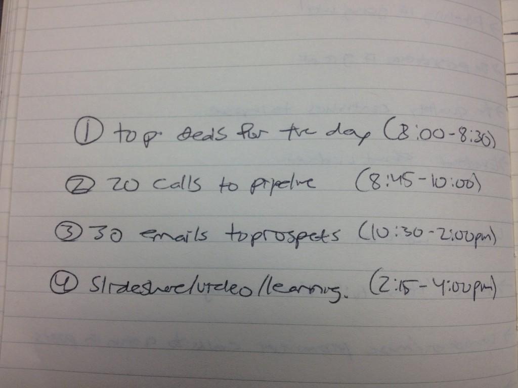 inbound sales checklist