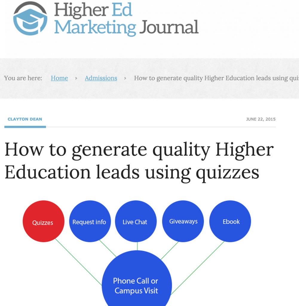 higher education quizzes