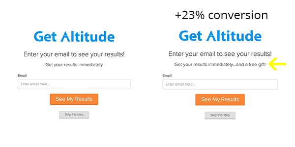 increase conversions by having a good offer