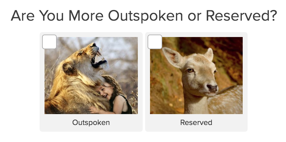 quiz question are you more outspoken or reserved