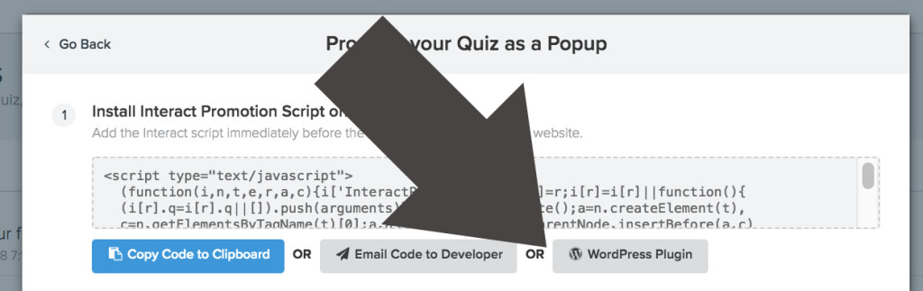How to Make a Quiz Pop Up on WordPress « Interact