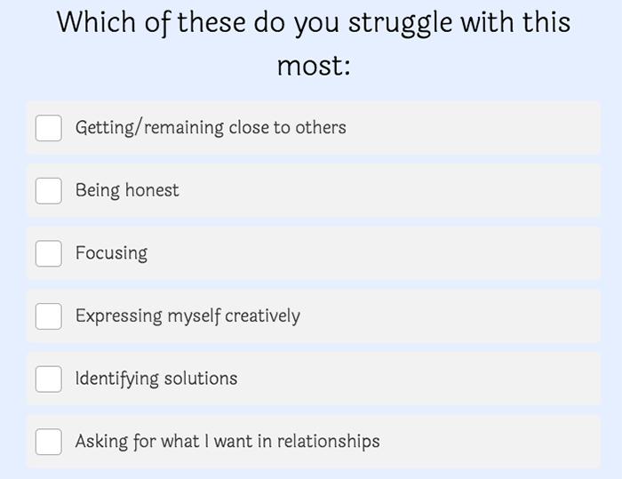 struggle question
