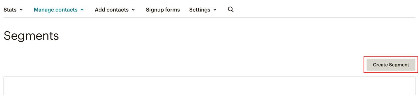 Screenshot showing how to create a segment