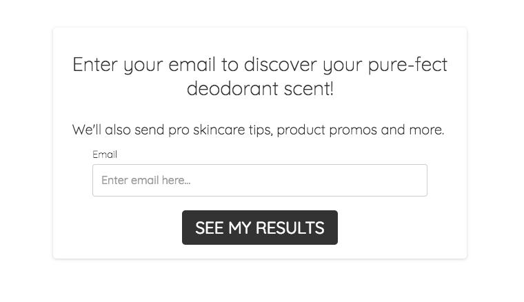 Optin offering your personalized deodorant scent from Primally Pure