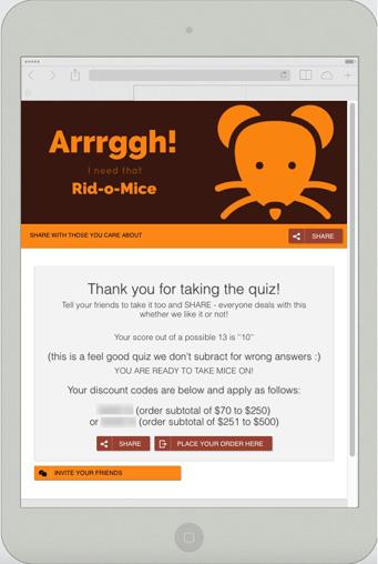pest control coupon as an optin incentive