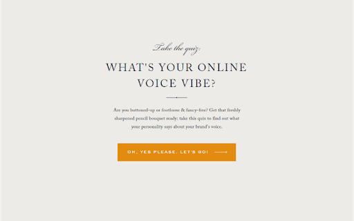 grey quiz cover with what's your online voice vibe