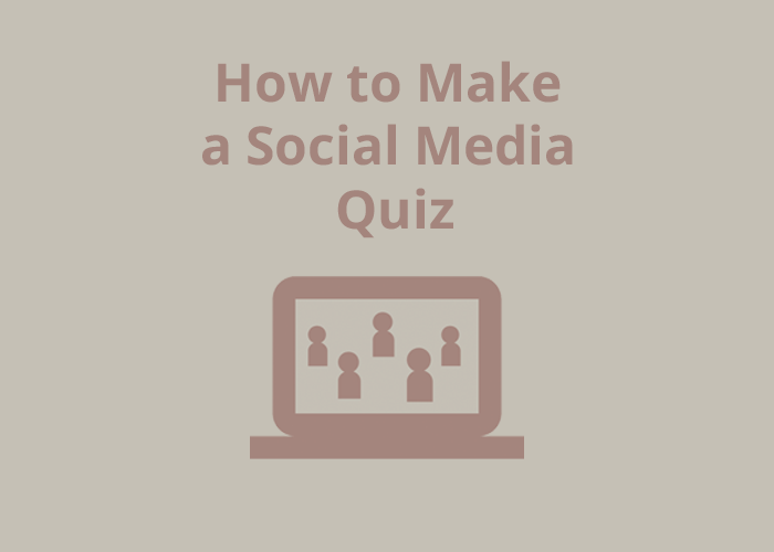 open laptop icon with people icons and How to Make a Social Media quiz
