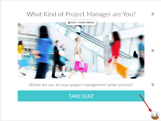 quiz cover with picture of blurred people walking and What kind of project manager are you