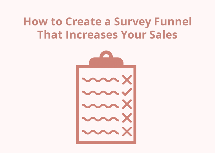 pink background and survey clipboard and How to Create a Survey Funnel that Increases Your Sales