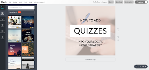 screenshot of canva design