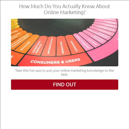 quiz cover with how much do you know about online marketing