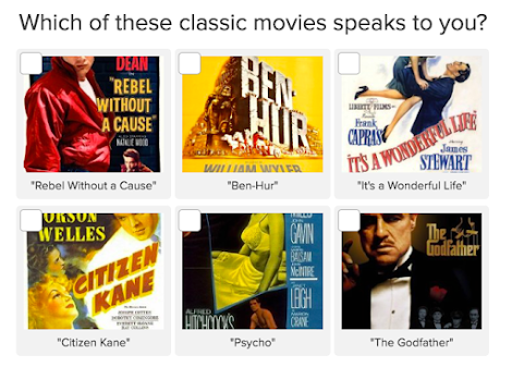 quiz question on what is your favorite classic movie