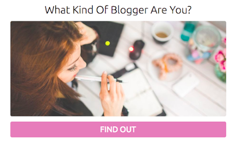 quiz cover for what kind of blogger are you