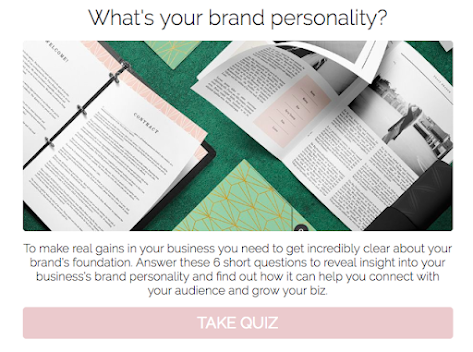 quiz cover on what's your brand personality