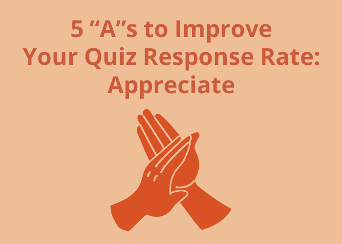 clapping hands and improve quiz rate appreciate