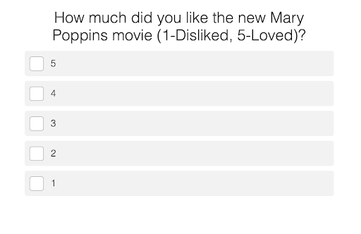 How much did you like Mary Poppins quiz questio