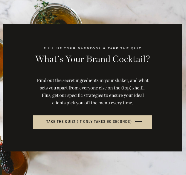 cocktail background and quiz cover
